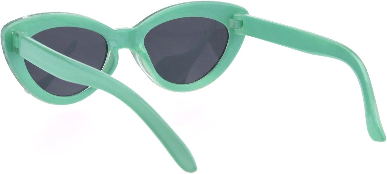 Kids Size Girls Large Rhinestone Bling Thick Plastic Mod Cat Eye Sunglasses