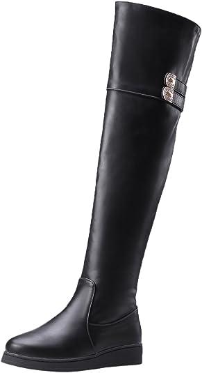 BIGTREE Thigh High Boots Women Flat