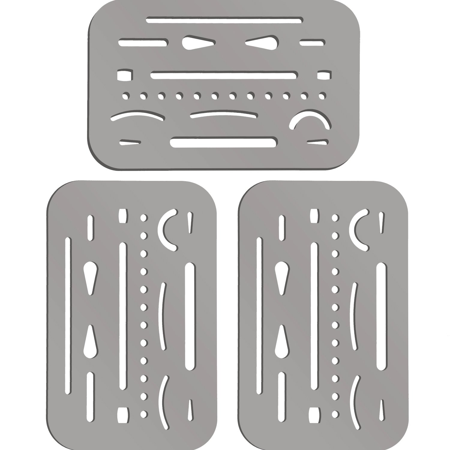 Hotop 3 Pieces Erasing Shield Stainless Steel Drawing Template Shield Drafting Tool Shield