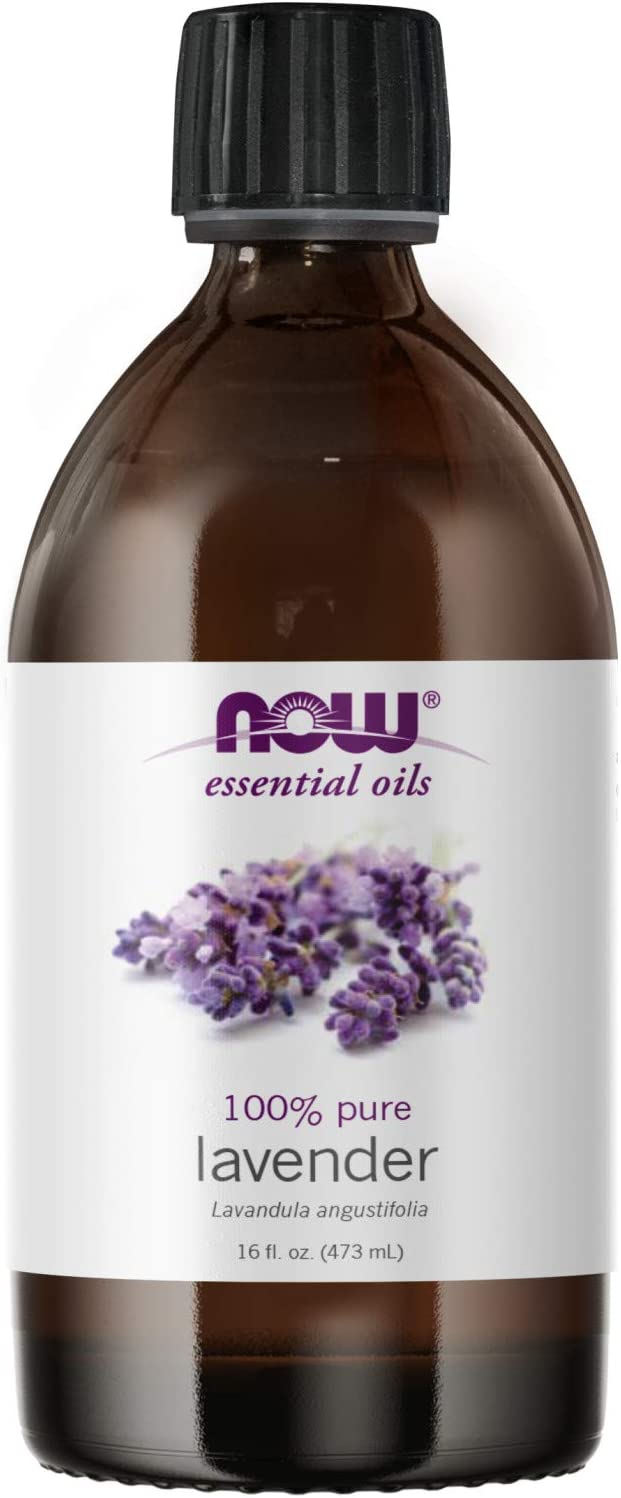NOW Essential Oils, Lavender Oil, Soothing Aromatherapy Scent, Steam Distilled, 100% Pure, Vegan, Child Resistant Cap, 16-Ounce
