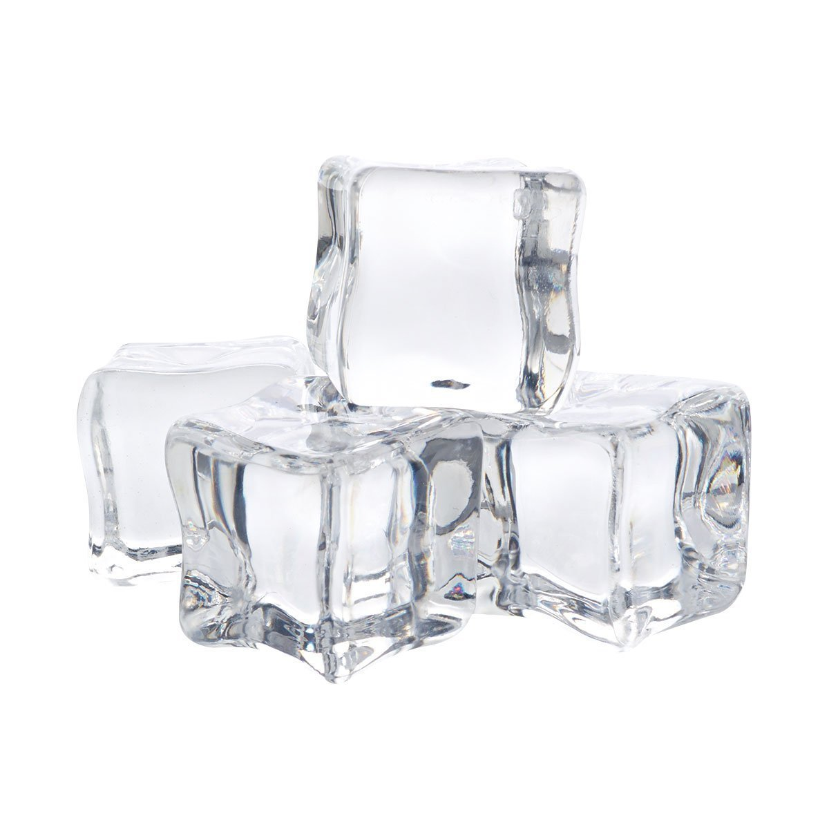 12Pcs/2CM Acrylic Clear Ice Rock Cubes for Vase Fillers and Table Decorating lansue