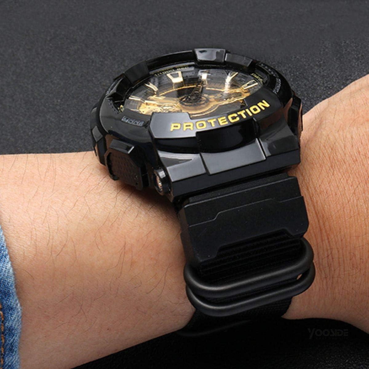 YOOSIDE NATO Nylon Buckle Watch Band for Casio G-SHOCK GW-DW5600(Black): Clothing