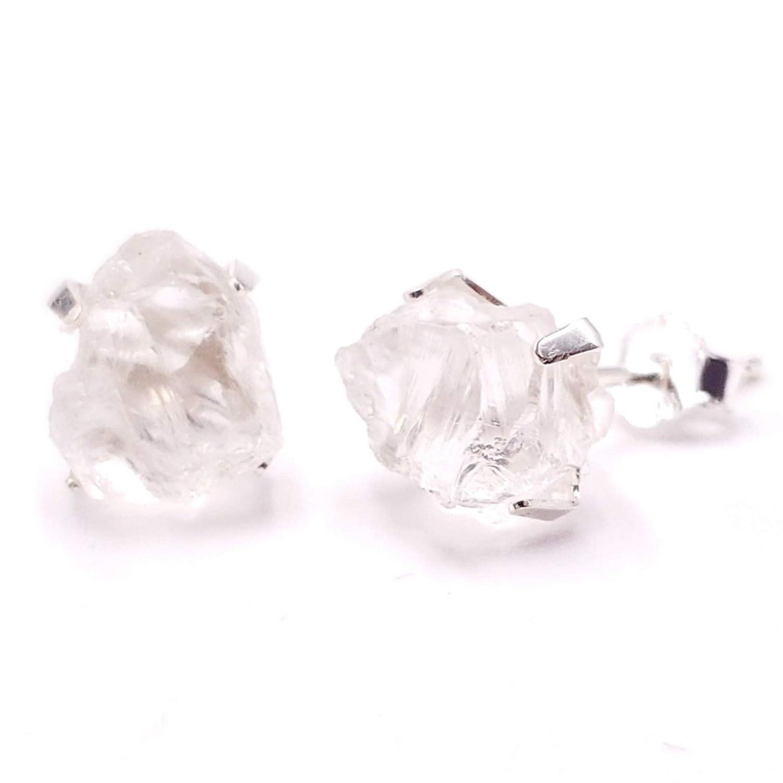 Clear Quartz Stud Earrings Gold Gold Filled Earrings Gemstone Studs Natural Quartz Crystal Earrings Stud Gold