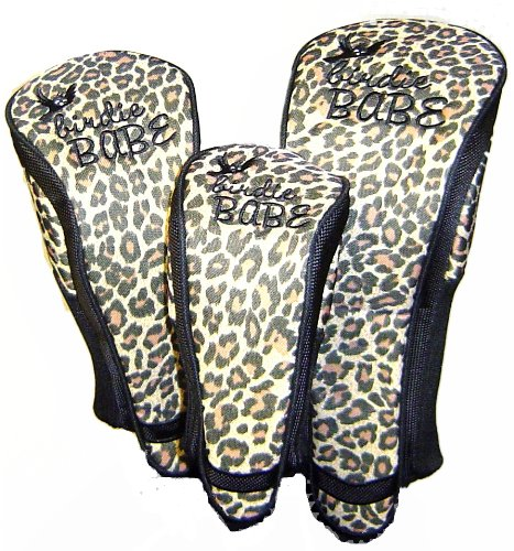 Birdie Babe Leopard Golf Club Head Covers for Women Set of 3