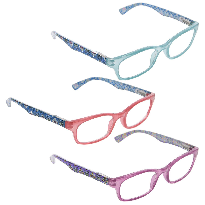 READING GLASSES 3 Pack Classic Readers for Women