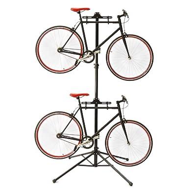 Cablematic - Stand pour garer deux vélos suspendus réglable en hauteur