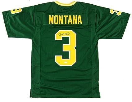 official photos 9008f 878a2 Joe Montana Autographed Jersey - Green Custom - Autographed ...