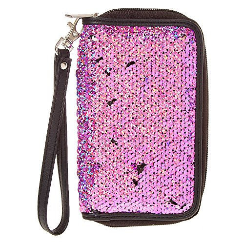 Sequin Wristlet Claire's Pink Girl's Reversible TE7AqfwR