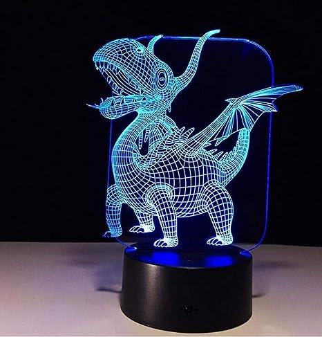 CTO Colorida Noche 3D Lght Led Creative Touch Lámpara de Escritorio Año Bestia,UNA,