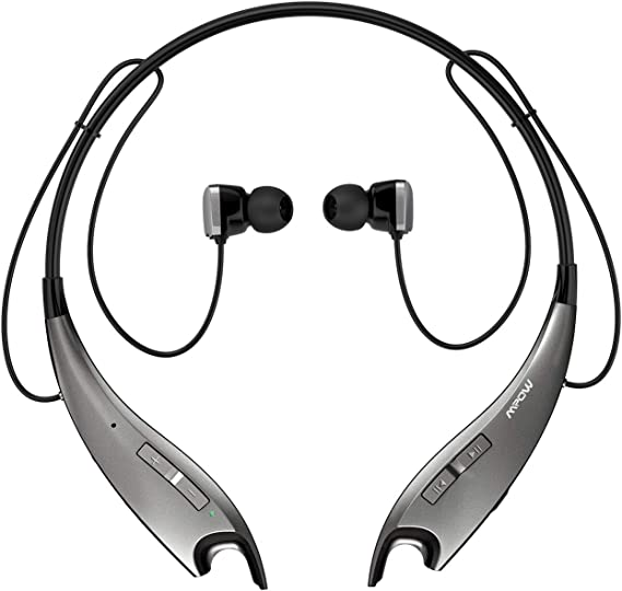 Amazon Com Mpow Jaws Gen 3 Bluetooth Headphones Wireless Neckband Headphones 13h Playtime Bluetooth Headset W Call Vibrate Alert Cvc 6 0 Noise Cancelling Mic Bluetooth Earbuds Magnetic Light Gray