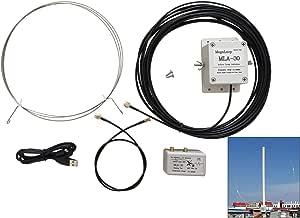 MLA-30 Antena de Largo Alcance direccional de línea Larga, Onda Media Activa, Antena de Radio de Onda Corta para Interior SMA SW Antena para RTL SDR ...