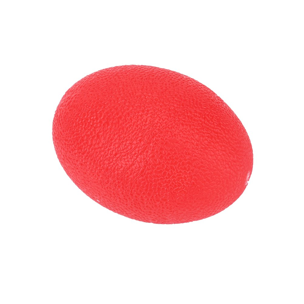 Alomejor Hand Exercise Balls, Silicone Massage Therapy Grip Ball for Wrist Finger Muscle Resistance Strength Exercise Stress Relief Egg Trainers (Red 25)