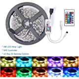 16.4ft RGB LED Light Strip WiFi Smart Phone APP Remote Control DC12V 5050 SMD Flexible Rope Lighting Kit Compatible with Alexa Google Home Voice Control