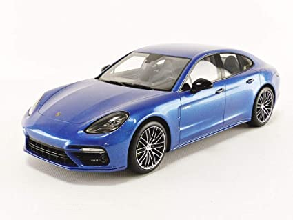 Porsche Panamera Turbo Sapphire Blue Metallic 1/18 Model Car by Spark 18S284