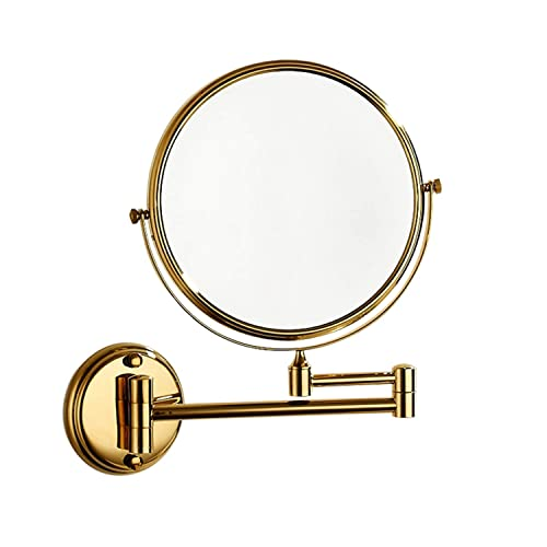 8-Inch Wall Mount Brass Material Makeup Mirror