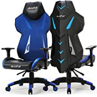 AutoFull Gaming Chair - Ergonomic Video Game Chair Mesh Back Swivel Executive Computer Racing Chair with Lumbar Support