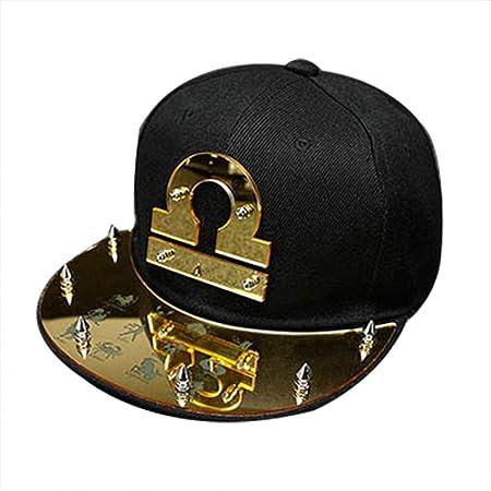 YANQ Twelve Constellation Hat Male Tide Hip Hop Hat Sport Sun Visor Hats  Forwide Brim Baseball 7ae02f91d695