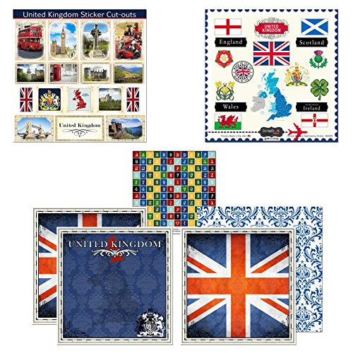 Scrapbook Customs Themed Paper and Stickers Scrapbook Kit, United Kingdom Sightseeing ()