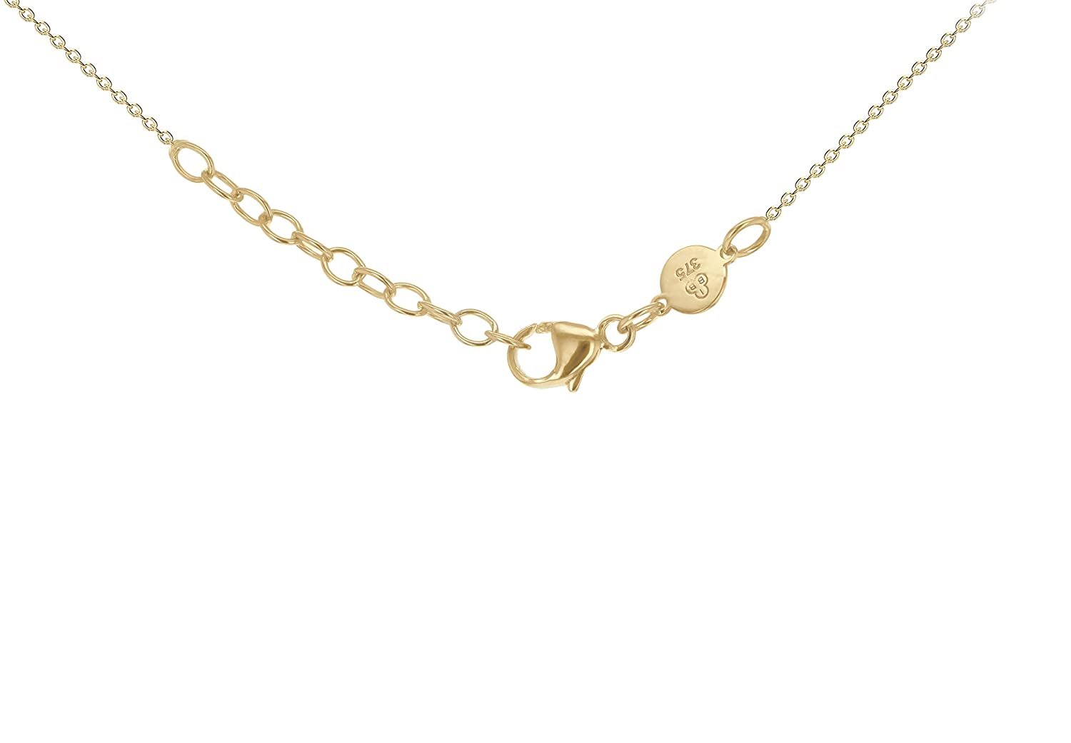 Carissima Gold 9 ct Gold 35 x 5 mm Horizontal Bar Adjustable Necklace Oax7IMWTO
