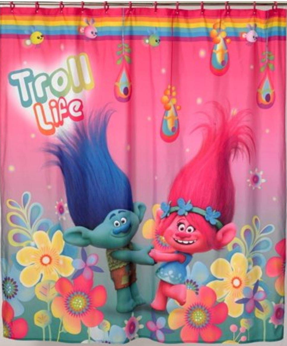 Trolls Hugfest Shower Curtain by Trolls (Image #1)