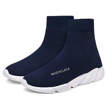 XINGMU La Nueva Clase Alta Casual Transpirable Zapatos Calcetines Elásticos Estilo Material De Malla Superior del Patín.: Amazon.es: Deportes y aire libre