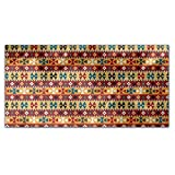 Ethno Pixels Rectangle Tablecloth: Medium Dining Room Kitchen Woven Polyester Custom Print