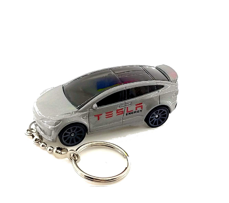 TESLA Diecast Cars Keychain (Tesla Model X Silver Keychain)