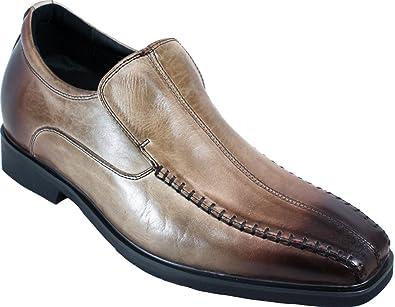 CALTO G1824–7,6cm TalleR–Hauteur augmenter ascenseur Chaussures–Noir à lacets léger - Noir - noir,