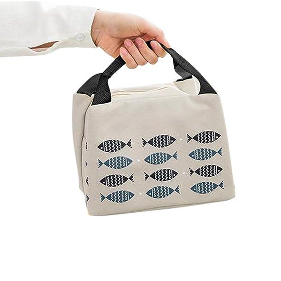 Weimay 1 PCS almuerzo bolsa térmica portátil bolsas de almuerzo reutilizables a prueba de agua personalizados aislados Lonchera con correa para el ...