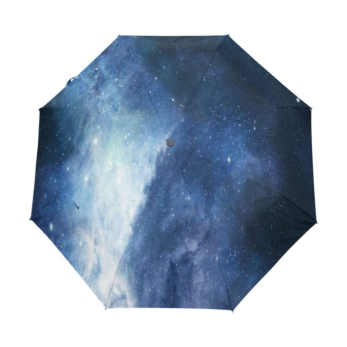 OuLian 傘 ユニコーン 星座 星 ゴルフ 旅行 太陽 雨 防風 自動傘 UV保護付き ガールズ ボーイズ キッズ B07MV9MZBM パターン2 37.8\