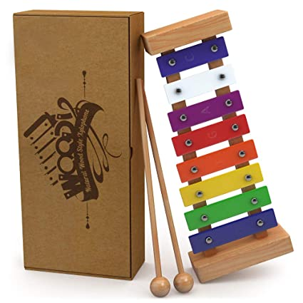 f55a09e7ee07 aGreatLife Wooden Xylophone for Kids Includes Eagle Whistle: Set of  Perfectly Sized Glockenspiel Musical Toy