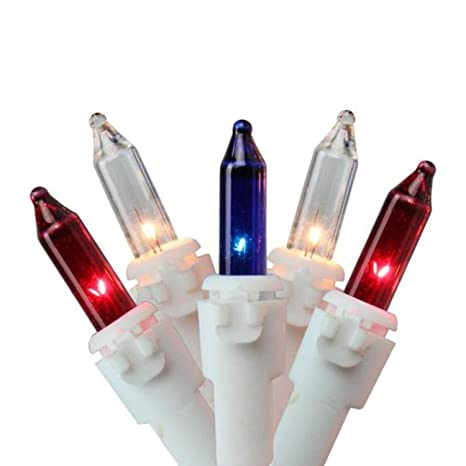 Amazon.com : Set of 150 Red, White and Blue Mini Chasing Christmas ...