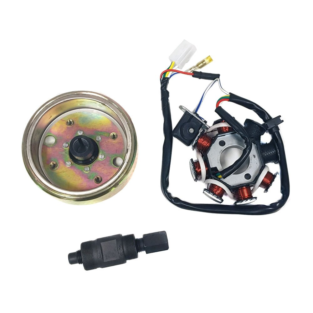 Bundle Ignition Repair Kit Gy6 Scooter Moped Atv 50cc Cdi Wiring Diagram Chinese Dunebuggy 250cc Engine No 80cc Includes Flywheel Stator Coil Spark Plug And Puller Tool