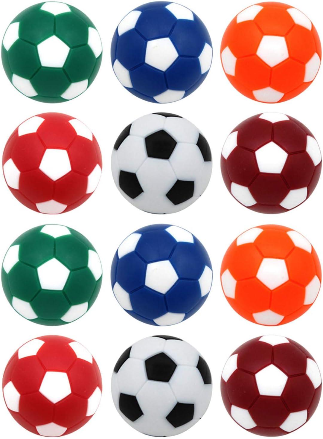 Winthai 12 PCS 32mm Mini Mesa de fútbol Bola de Cambio de Bolas de futbolín en 6 fútbol Bola de fútbol Juego de fútbol reemplazo para niños Adultos: Amazon.es: Juguetes y juegos