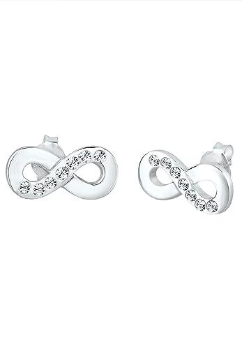 Elli Pierced Earrings Heart 925Sterling Silver Swarovski Crystal uupot