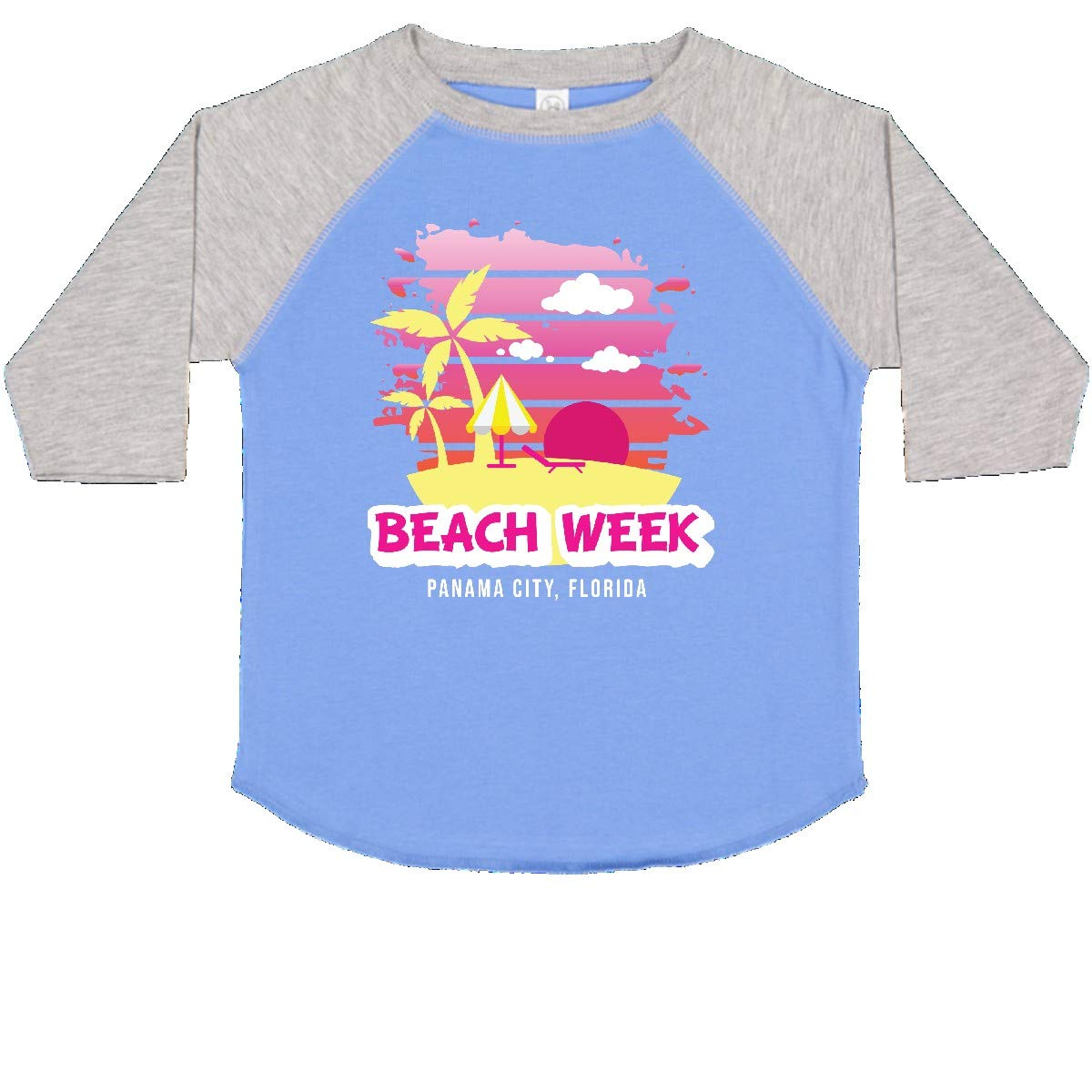 inktastic Beach Week Panama City Florida with Palm Trees Toddler T-Shirt