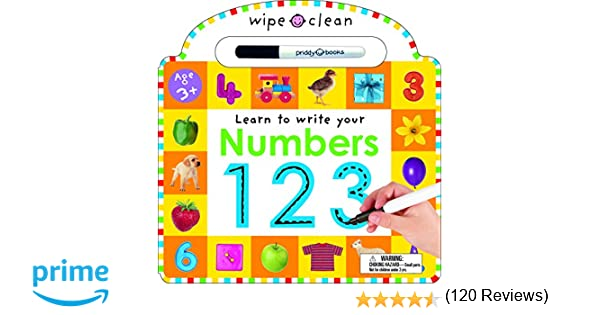 Amazon.com: Wipe Clean: Numbers (Wipe Clean Learning Books ...