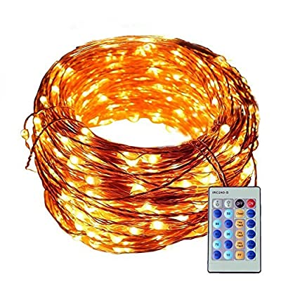 Ucharge TDS0001 Copper Wire Lights Decorative Led Lights, USB Operated 33ft 100 LED Waterproof(Warm White)