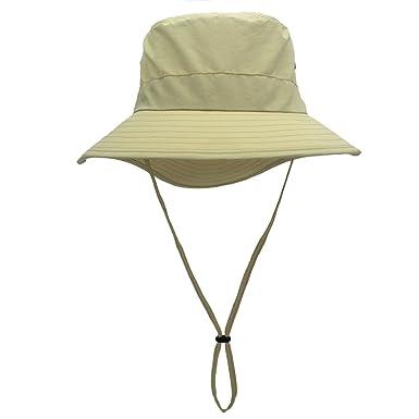 d584a68f Magracy Unisex Ladies UPF 50+ Sun Hat Summer Wide Brim Bucket Hat for  Womens Safari Hats for Fishing Gardening Light Khaki: Amazon.co.uk: Clothing