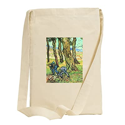 2 Men Digging Out Tree Stump (Van Gogh) Canvas Sling Tote Bag