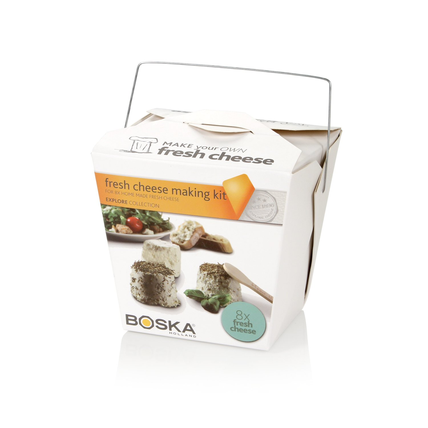 Boska Holland Fresh Cheese Making Kit, Homemade Set, Makes up to 8 Batches, Explore Collection