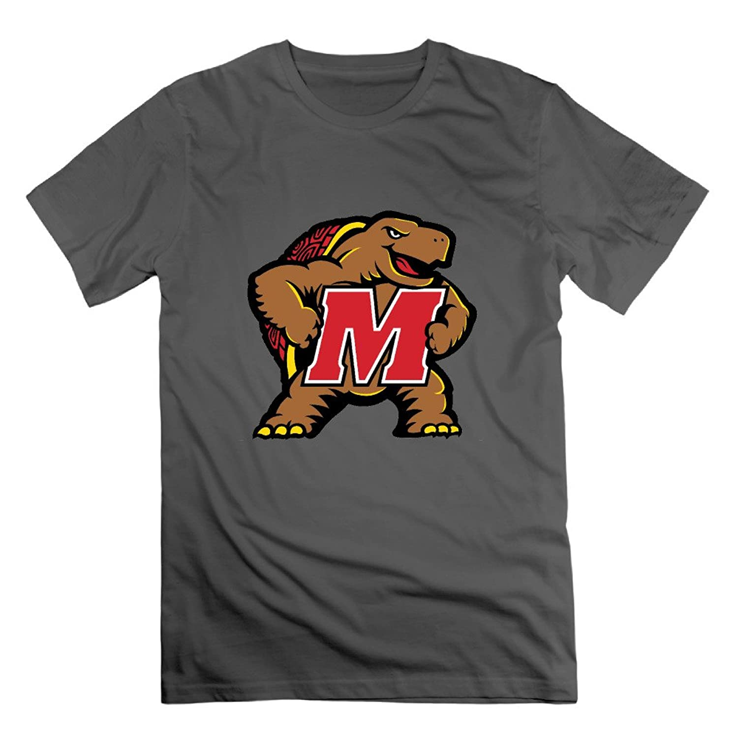 Normal Fit T Shirt University Of Maryland Logo O Neck Crew Neck