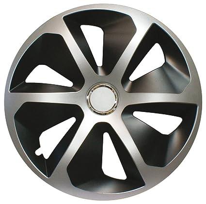 CORA 41944 4 Universal Aluminio Look ROCO Mix Tapacubos, 14, Set ...