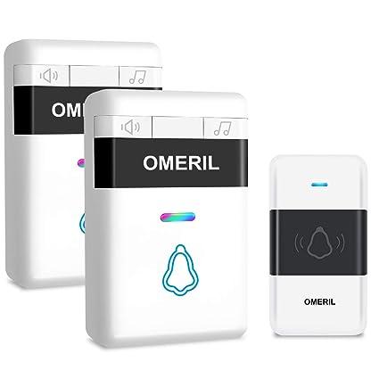 Door Bell, OMERIL Loud Wireless Doorbell Plug In with 5 Level Volume