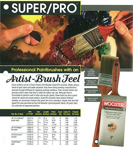 Wooster Brush J4112-3 Super/Pro Lindbeck Angle Sash Paintbrush, 3-Inch