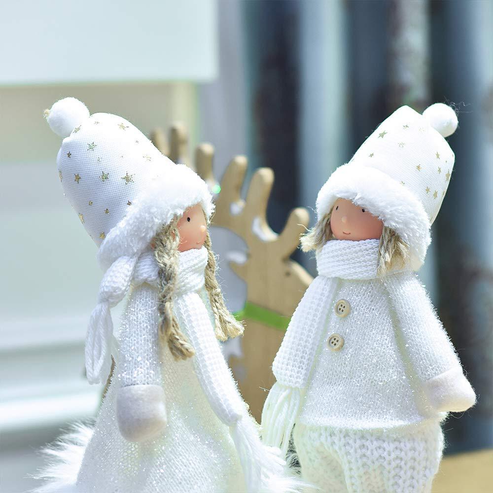 Valery Madelyn 33cm Textil Weihnachten Deko Figur 2er Set