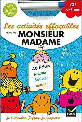 Amazon Fr Les Activites Effacables Avec Les Monsieur