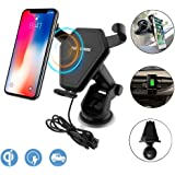 Wireless Car Charger, Anderw Qi Fast Wireless Charging Car Mount Gravity Linkage Air Vent Phone Holder for iPhone X/8/8 Plus, Samsung Galaxy Note 8/5,S8+,S7,S6 Edge+,Compatible with All Qi-Enabled