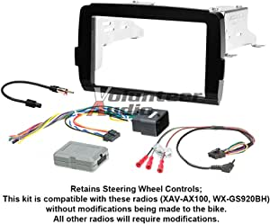 with 17398mm//173100mm//178102mm Double Din In Dash Car Stereo Installation Kit Car Radio Stereo CD Player Dash Install Kit Compatible City Left Wheel//with SRS Grace 2014+ Ballade