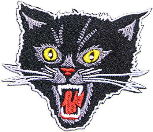 Black Cat Kitty Logo Back Jacket T-shirt Patch Sew Iron on Embroidered Sign Badge Costum Gift - Cat Valentine Genie Costume